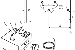 Рисунок 4. Схема пускового устройства в металлическом корпусе размером 170х140х50 мм