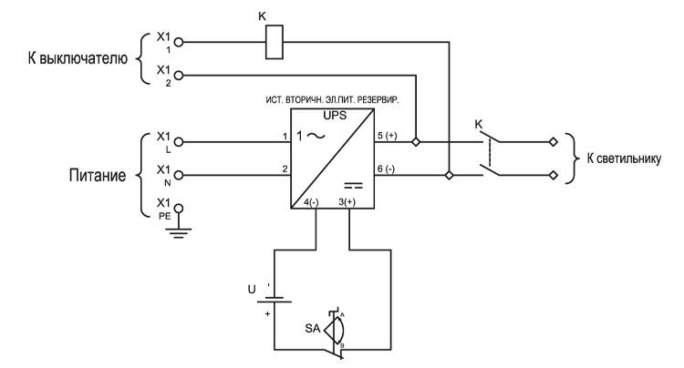 Электрическая принципиальная схема взрывозащищенного источника бесперебойного питания