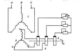 Схема включения асинхронного электродвигателя с фазным ротором