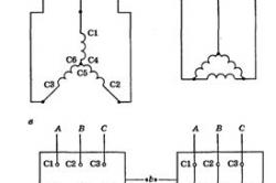 Схемы соединения обмоток статора трехфазного асинхронного двигателя