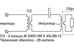 Эквивалентная схема нагрузки для индукционного нагрева