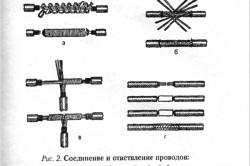 Варианты соединений проводов