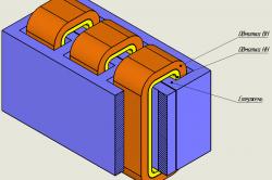 Схема трехфазного трансформатора
