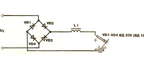 Схема мостового выпрямителя для сварочного аппарата
