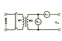 Схема подключения измерительных приборов
