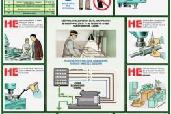 Меры безопасности при работе на сверлильном станке