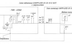 Схема подключение установки компенсации реактивной мощности