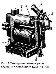 Электромагнитное реле времени постоянного тока РЭ-500