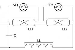 Схемы подключения двух люминесцентных ламп