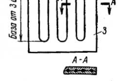 Конструктивная схема наклеиваемого тензодатчика.