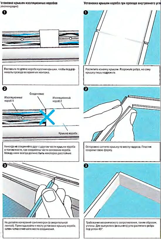 Часть 3. Поэтапная установка коробов без дополнительных аксессуаров.
