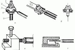 Схема соединения проводов контактными зажимами