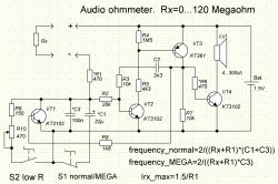 Звуковой пробник-омметр с мега режимом и режимом малых сопротивлений