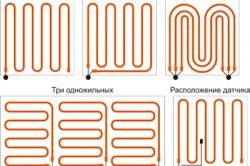 Варианты укладки кабеля теплого пола