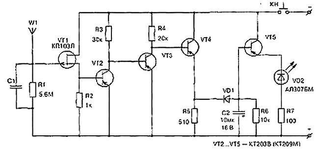 Детектор для обнаружения скрытой проводки своими руками 73