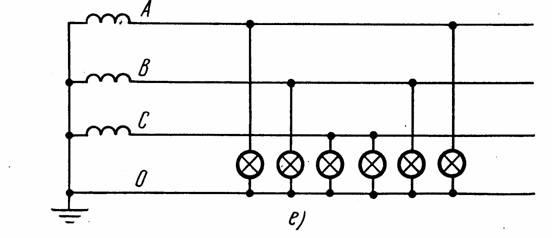 Схема включения люминесцентных ламп