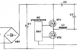 Схема подключения газоразрядного источника света