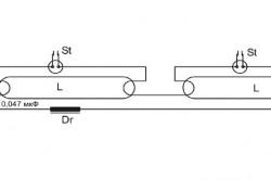 Схема подключения люминесцентной лампы к стартеру