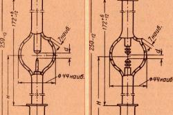 Схема дуговых ксеноновых ламп типа ДКСШ-1000