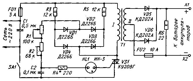 Подробная схема зарядного устройства