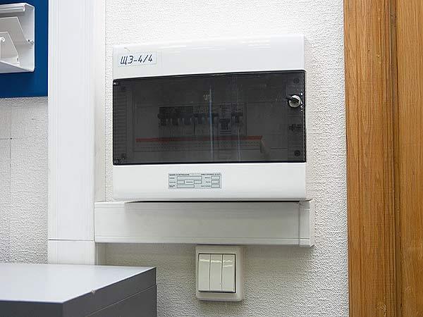 Накладной электрощит в квартире