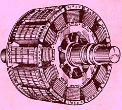 Схема явнополюсного ротора