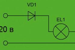 Схема включения лампы накаливания
