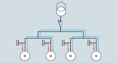 Схема подключения конденсаторной установки