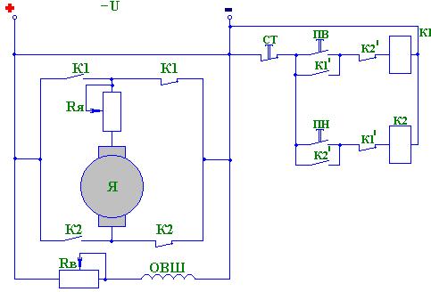 Схема управления синхронным двигателем вращение