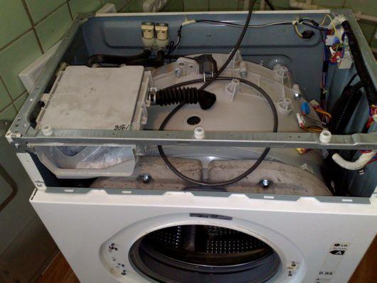 Снятие контейнера для стирального порошка