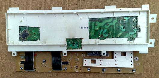 Причина неисправности модуля была в процессоре.  Дальнейший ремонт, просто не...  Вскрытие модуля стиральной машины...