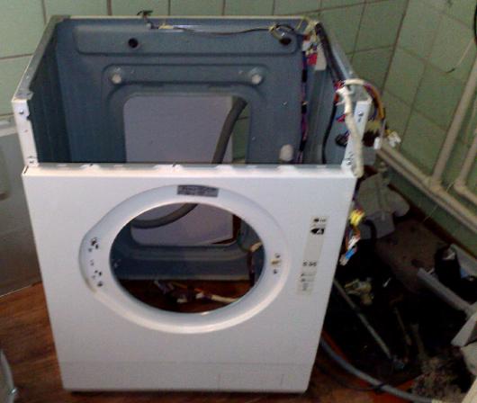 Корпус стиральной машины с электропроводкой