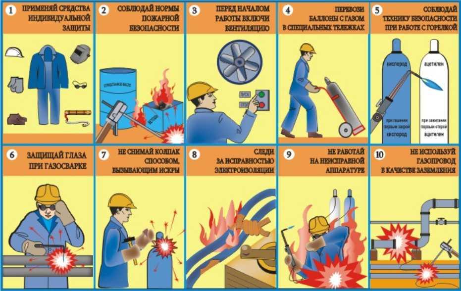 10 правил сварочных работ