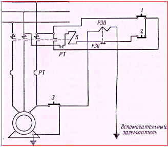 Рисунок 1.Схема отключения со вспомогательным заземлением