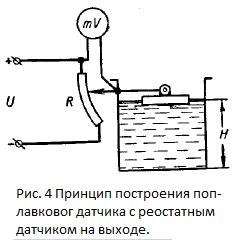 схема датчика поплавка
