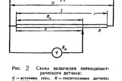 Рисунок 2. Схема включения потенциометрического датчика