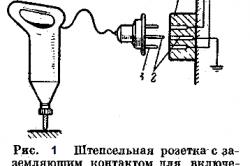 Рисунок 1. Штепсельная розетка с заземляющим контактом для включения электрифицированного инструмента