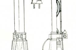 Схема переносной лампы