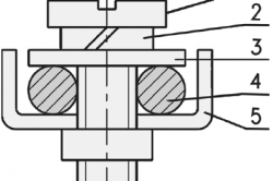 Схема устройства контактного зажима
