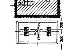 Рисунок 1. Устройство фундамента для электрического двигателя.