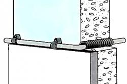 Схема проведения кабеля через стену.