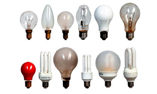 Некоторые разновидности ламп