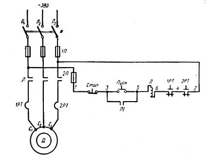 Схема управления трёхфазным асинхронным двигателем фото 500