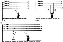 Опасность трехфазных электрических цепей с заземленной нейтралью