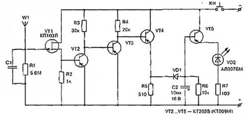 Прибор для обнаружения повреждений скрытой электропроводки