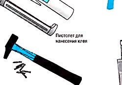 Перечень инструментов для прокладки кабель-каналов.