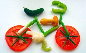 велосипед из овощей