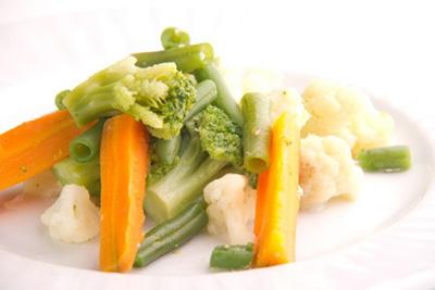 паренные овощи