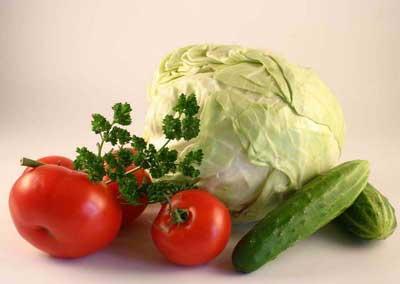 капуста, огурцы и помидоры