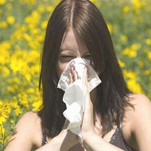 Проявление аллергии в виде насморка